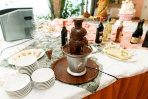 fest med chokoladefontæne